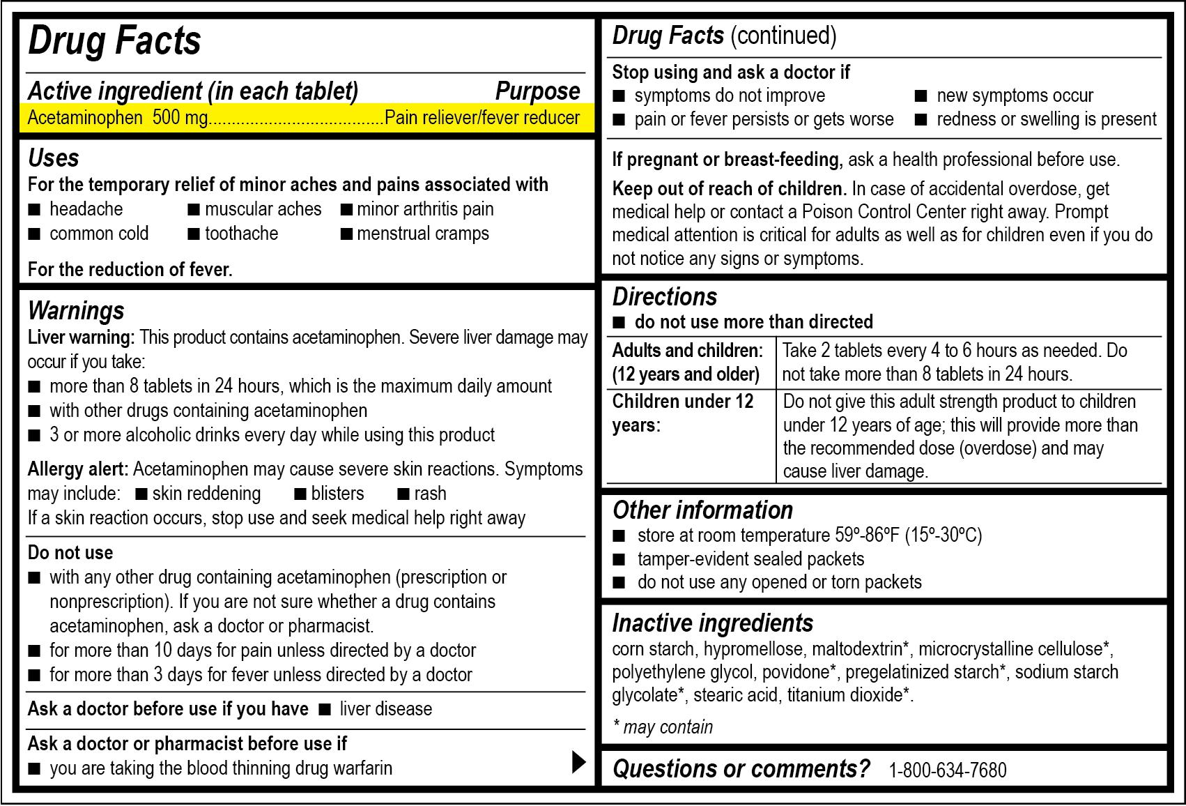 Drug Facts Labeling